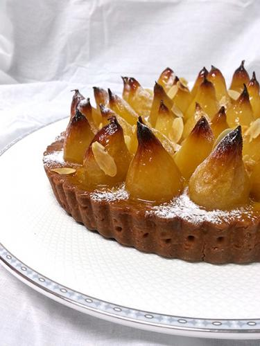 Baby Pear Flan