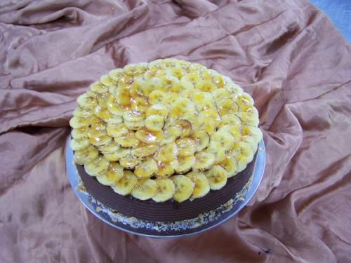 Caramelised Banana & Chocolate Cake