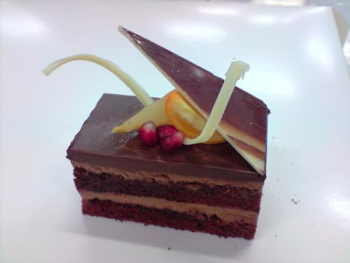 Dark Chocolate Mousse Slice