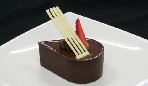 Dark Teardrop Dessert