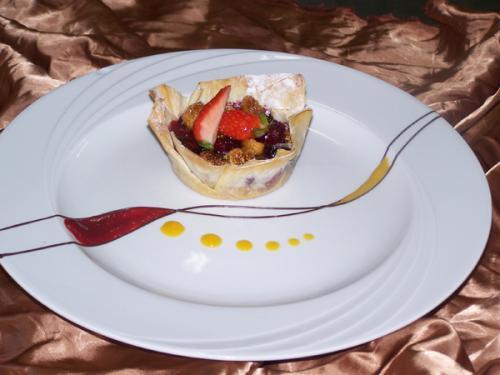 Fig & Berry Filo Tart
