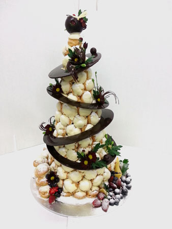 Chocolate Croquembouche (2)