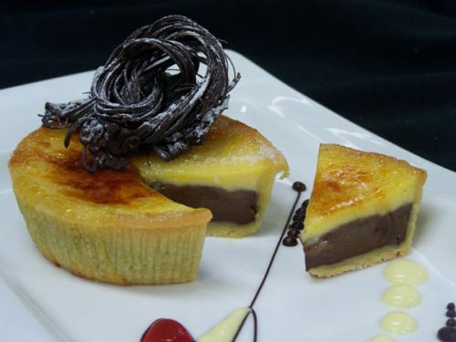 Chocolate & Vanilla Brulee Tart