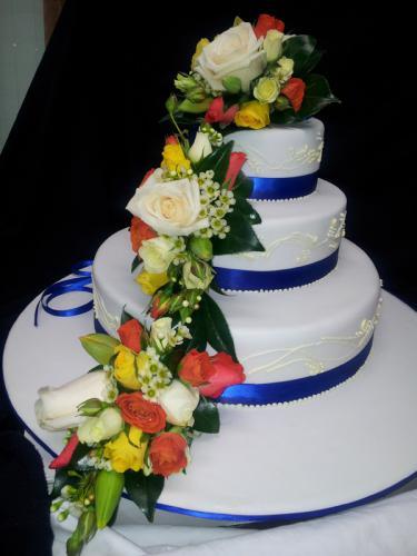 Wedding blue ribbon