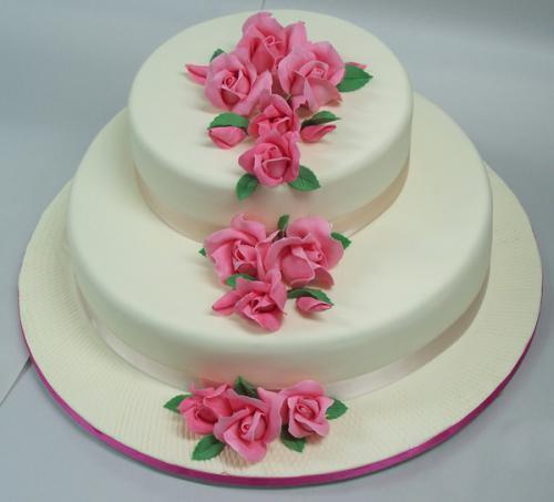Wedding pink roses